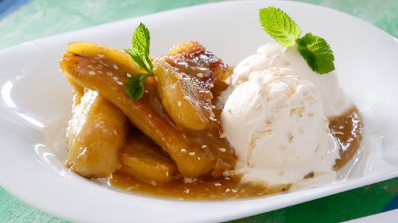 Жареные бананы - рецепт с фото