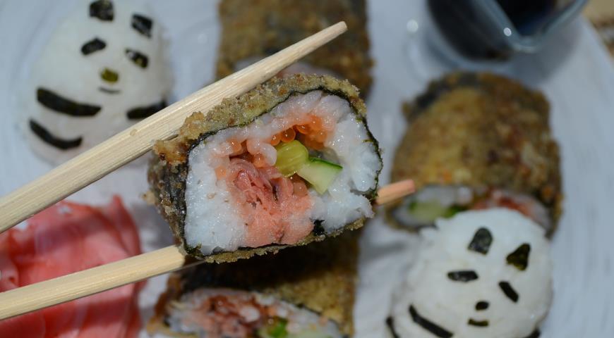 как сделать суши с икрой дома пошаговый рецепт