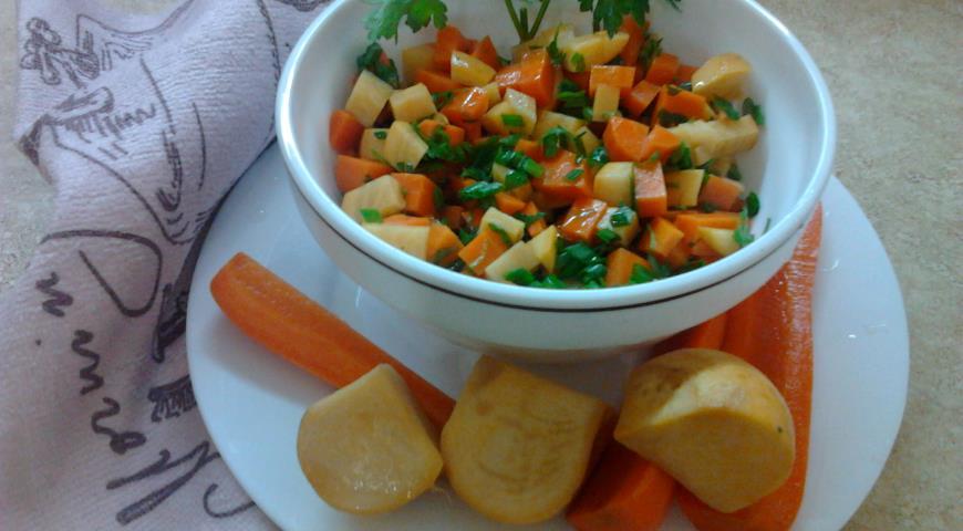 Рецепт Квашеная репа и морковь