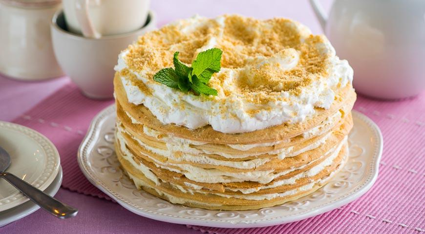наполеон торт рецепт с фото со сметаной