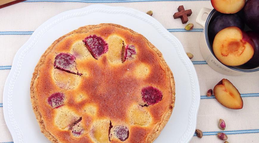 """Рецепт Открытый сливово-персиковый тарт """"В ожидании лета"""""""