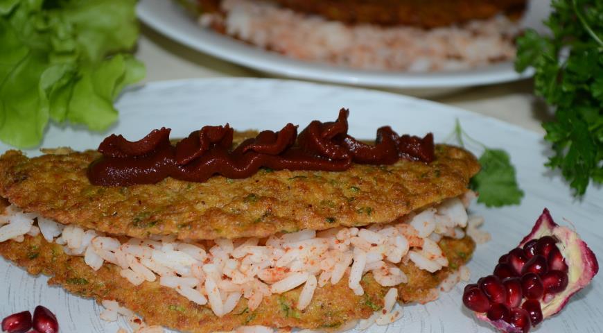 Рецепт Рыбные конвертики с рисом и ткемали