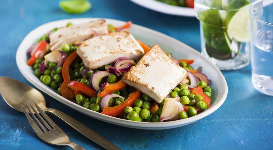 Рецепт Жареный тофу с овощами