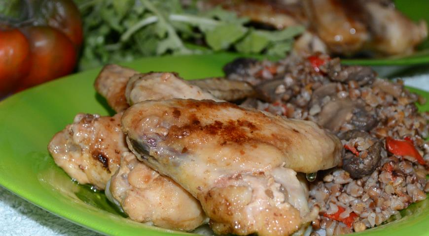 Рецепт Гречка с курицей и грибами из мультиварки