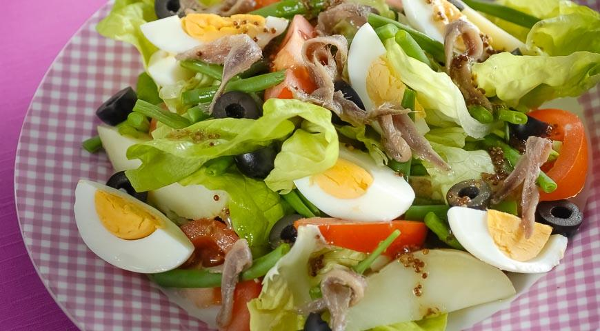 Салат с хамсой рецепт