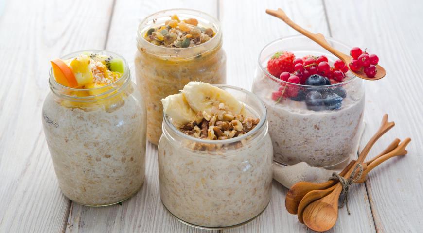 Овсянка без варки назавтрак, пошаговый рецепт с фото