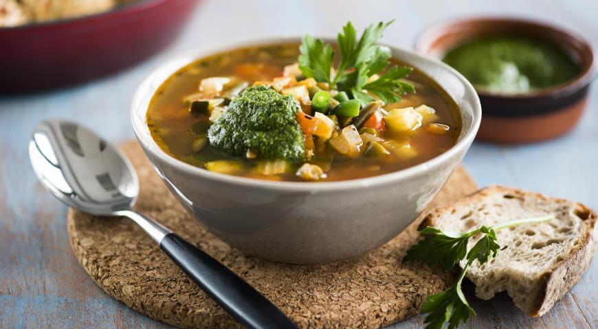 Рецепт Минестроне с зеленой фасолью