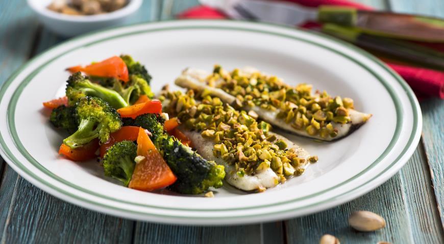 Рецепт Рыба с брокколи и перцем