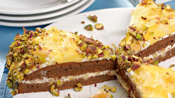 Ананасовый торт Подсолнух
