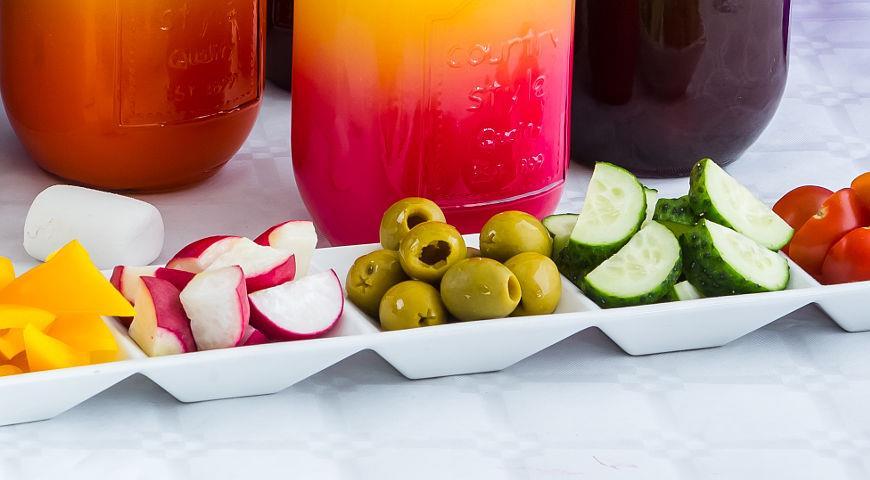 Рецепт Радужный салат-бар