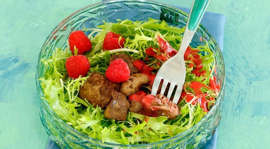 салат с куриной печенкой фото рецепт