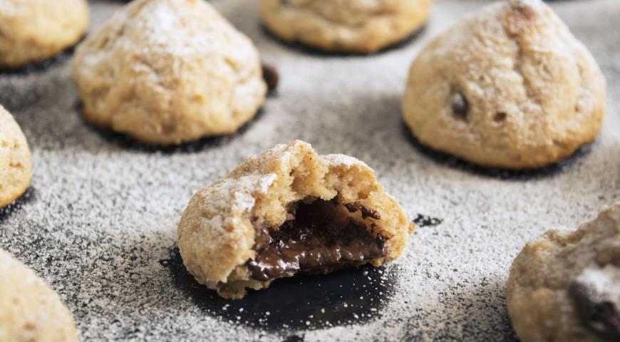 Рецепт Творожное печенье с шоколадной начинкой