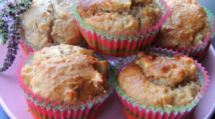Рецепт Овсяные кексы с яблоком