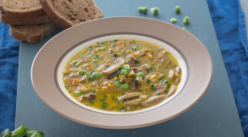 Рецепт Грибной суп с овощами