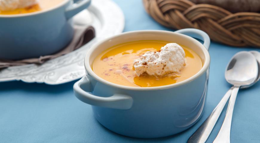 Рецепт Тыквенный суп-пюре с пряными сливками