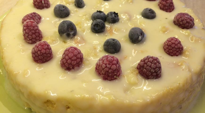 Рецепт Бисквитный торт с заварным кремом по-новому