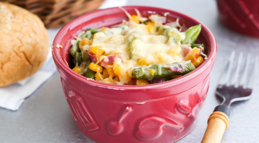 Рецепт Рагу из кукурузы с зеленой фасолью и зирой