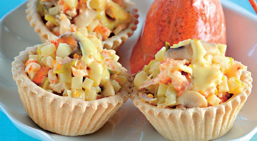 Рецепт Закуска из омара с соусом из 15-летнего виски