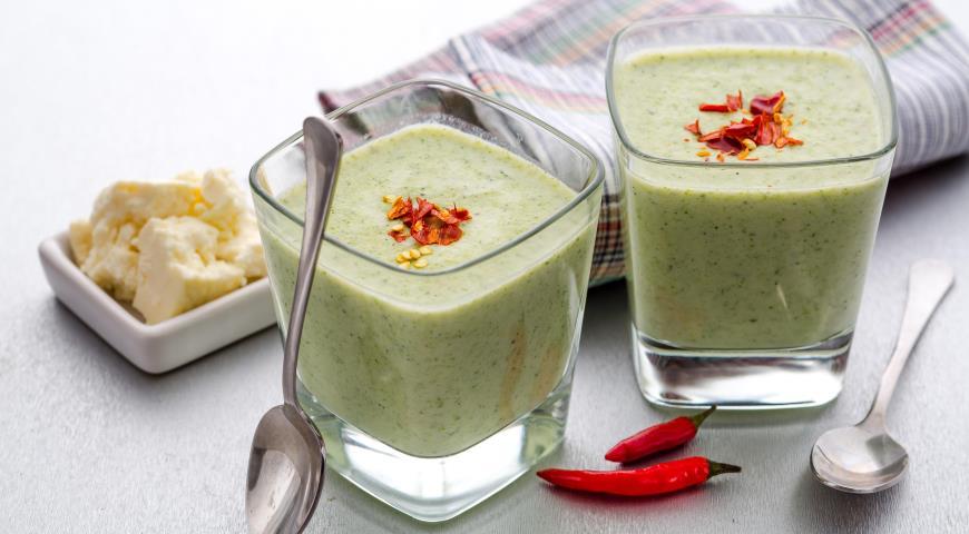 Рецепт Суп из брокколи с адыгейским сыром