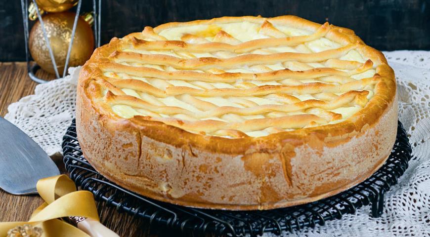 Рецепт Дрожжевой пирог с творогом и сыром