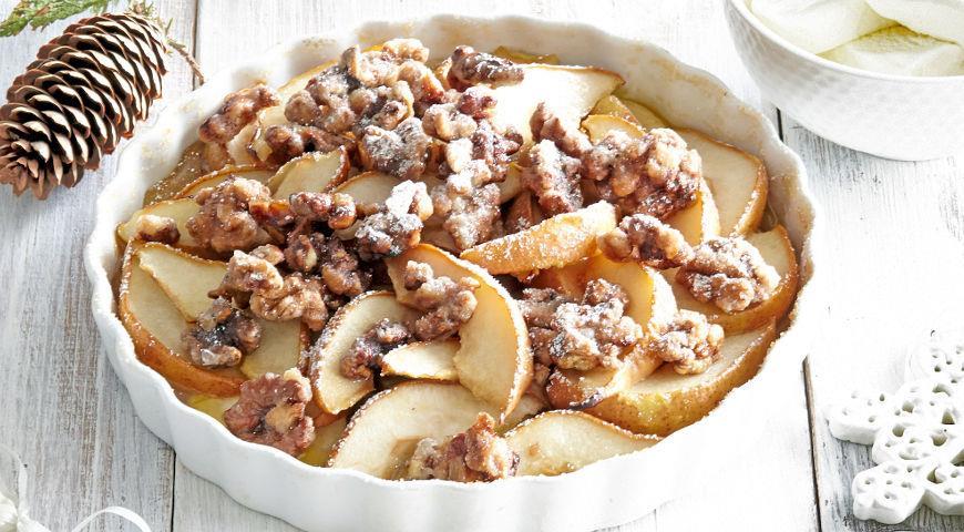 Печеные груши с орехами, пошаговый рецепт с фото