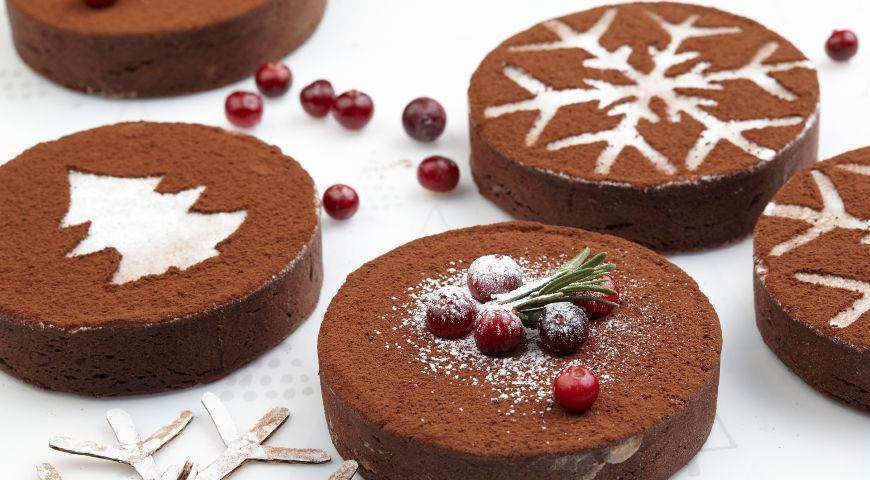 Рецепт Шоколадные тарты с малиной