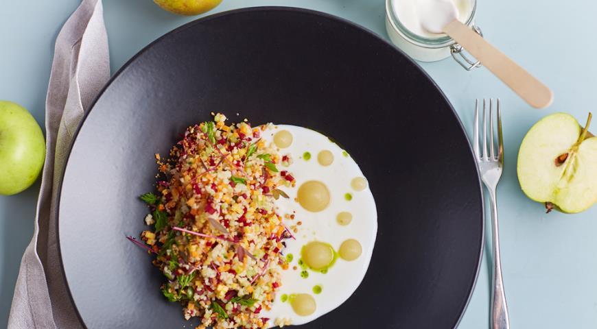 Рецепт Салат из хрустящих овощей с кус-кусом