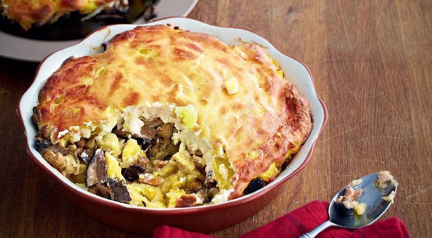 Рецепт Запеканка из соленых грибов и картофеля