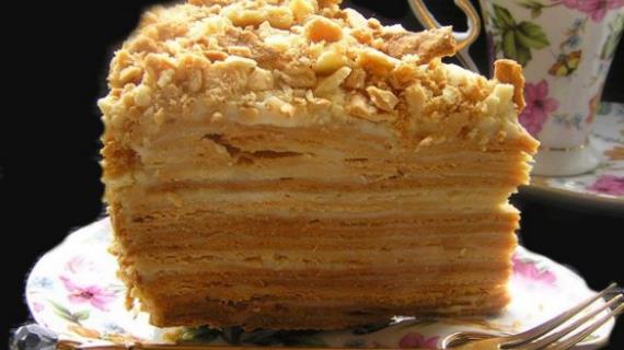 Торт Наполеон «мокрый»