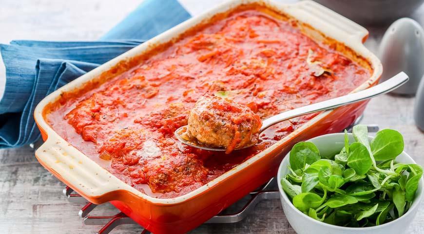 Рецепт Биточки мясные в томатном соусе