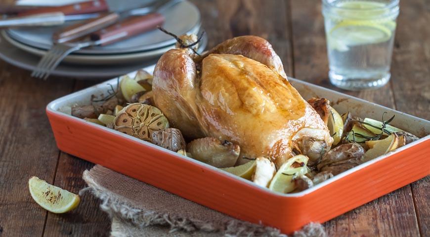 Рецепт Курица в духовке с картошкой