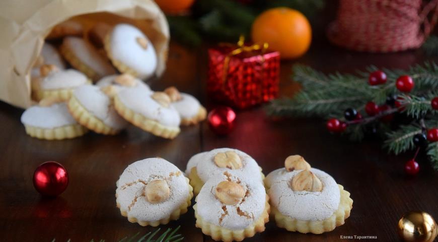 Рецепт Печенье с белково-ореховой начинкой