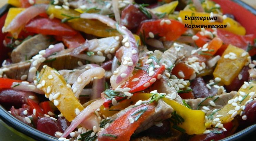 салат узбекистан рецепт с говядиной