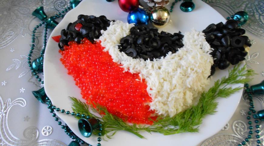 "Рецепт Салат "" Снегирь"""