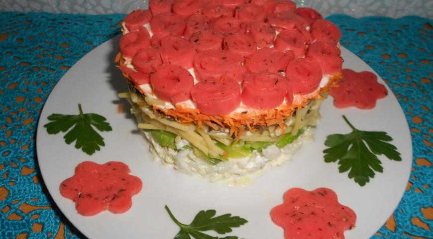"""Рецепт Салат """"Цветочная поляна"""""""