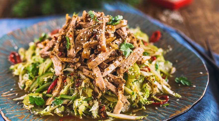 как приготовить салат восточный с вареной говядиной и овощами
