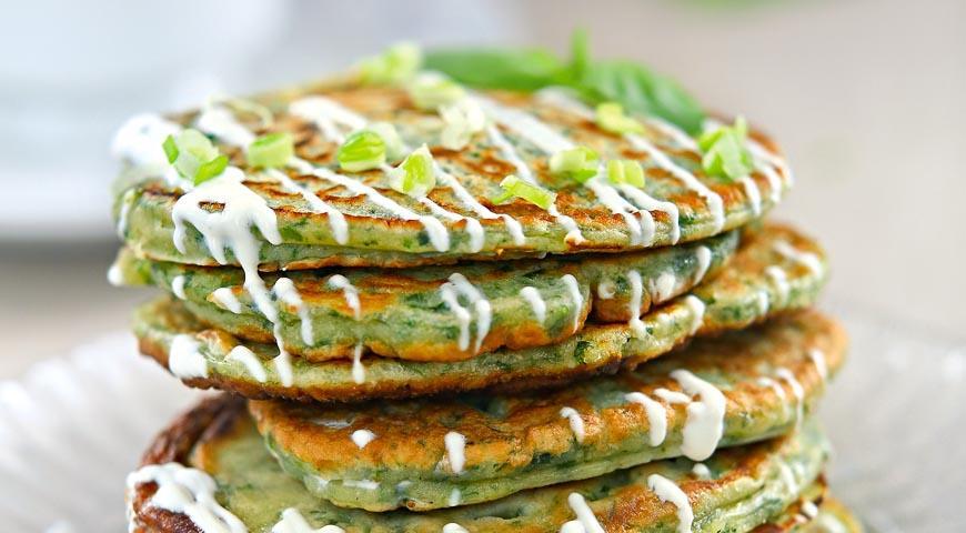 оладьи из зелени рецепт