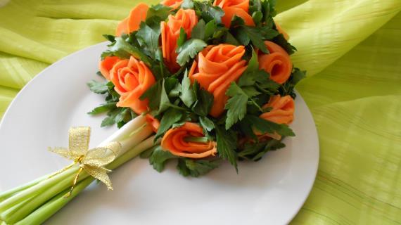 Фото салат букет