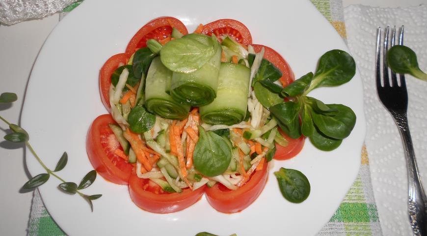 салат витаминный пошаговый рецепт с фото