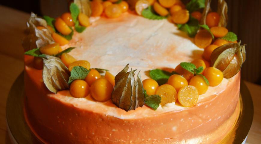 Рецепт Бисквитный торт с рождественским настроением
