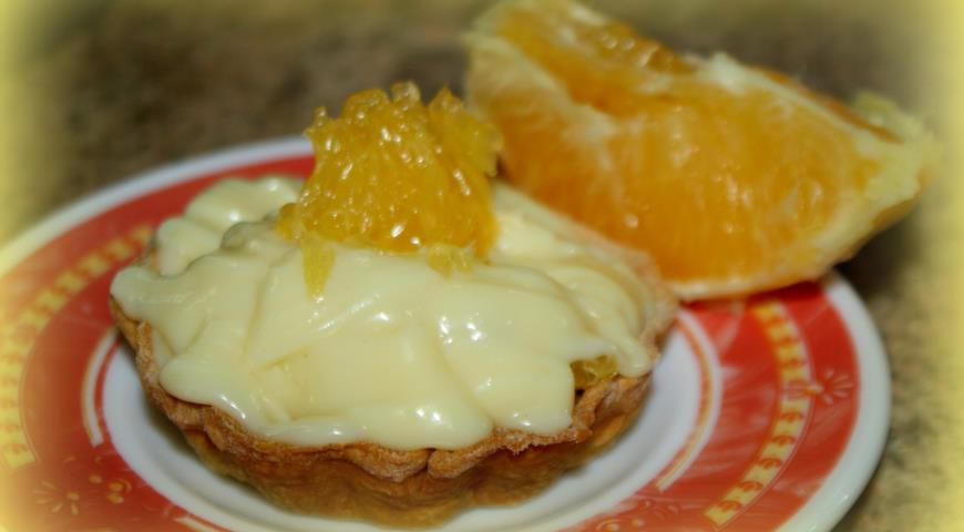 Рецепт Корзиночки с заварным кремом и апельсинами
