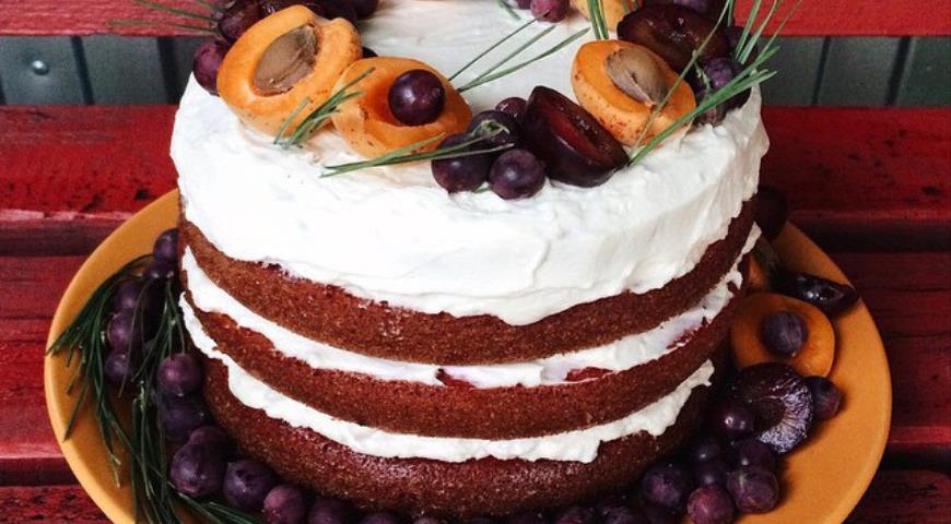 Рецепт Йогуртовый торт с ореховым кремом