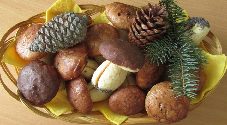 Печенье Грибочки, пошаговый рецепт с фото