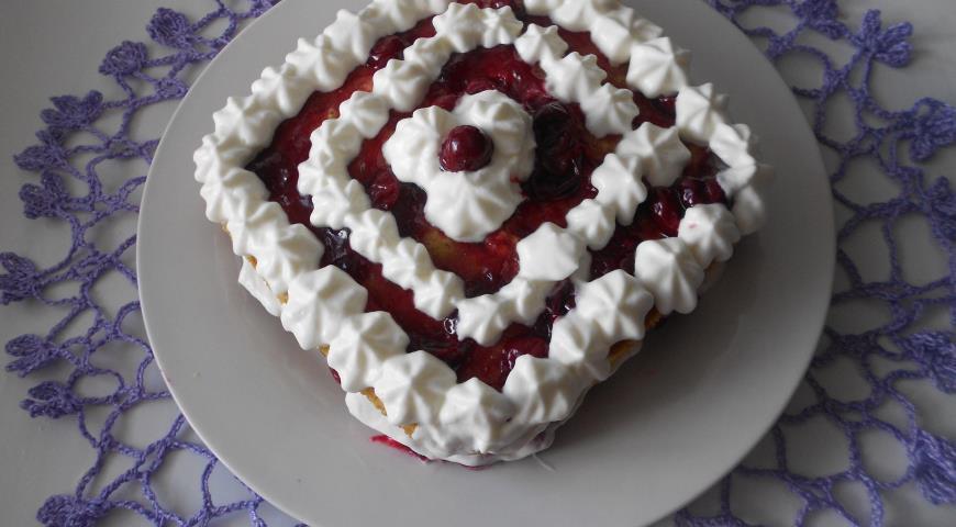 Рецепт Вишневый торт в микроволновке