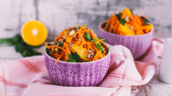 Салат из апельсинов и моркови