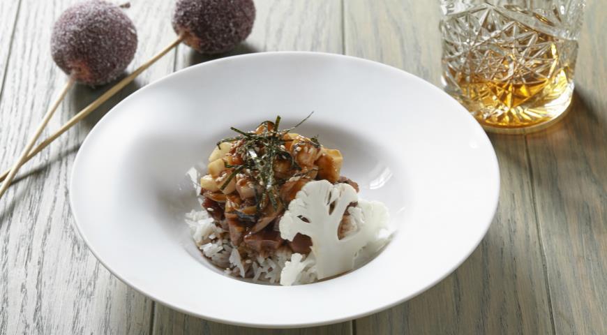 Рецепт Тартар из утки с рисом и салатом из сельдерея