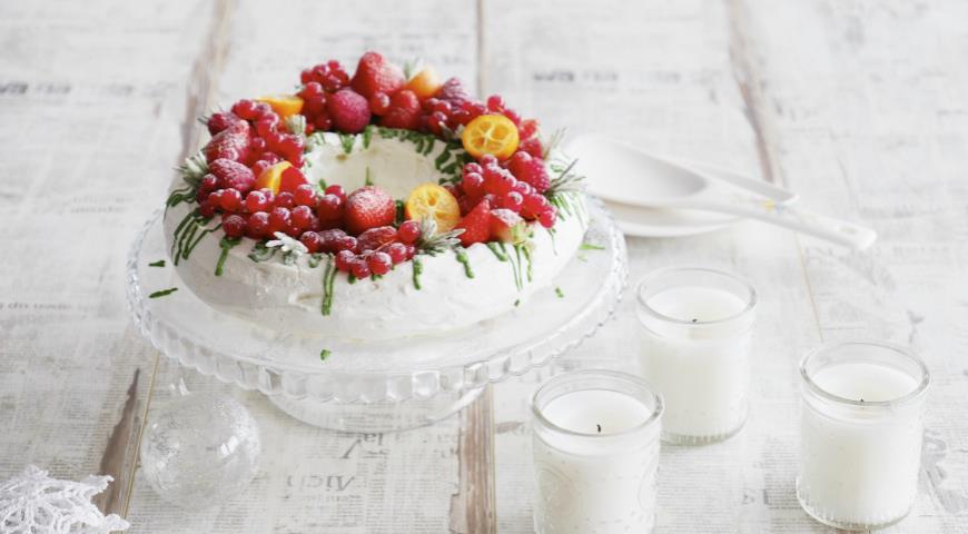 Рецепт Торт «Павлова» с ягодами