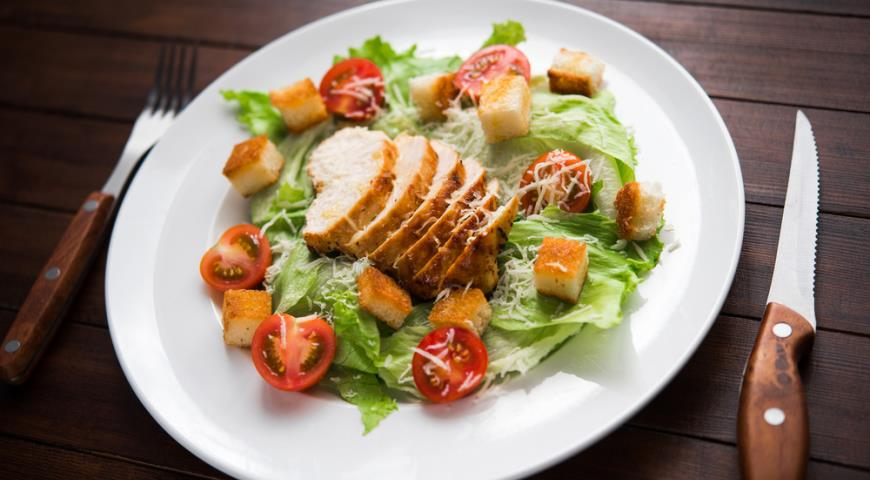 салат цезарь как в ресторане рецепты