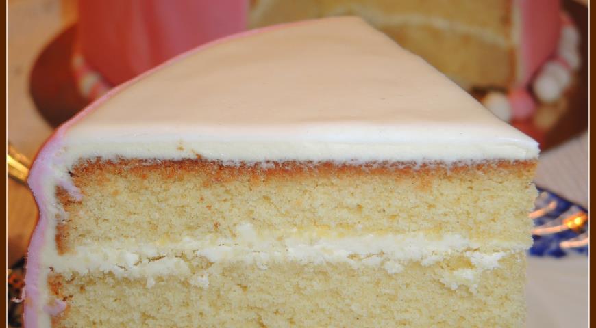 Бисквитный торт со сливочным кремом рецепт с фото