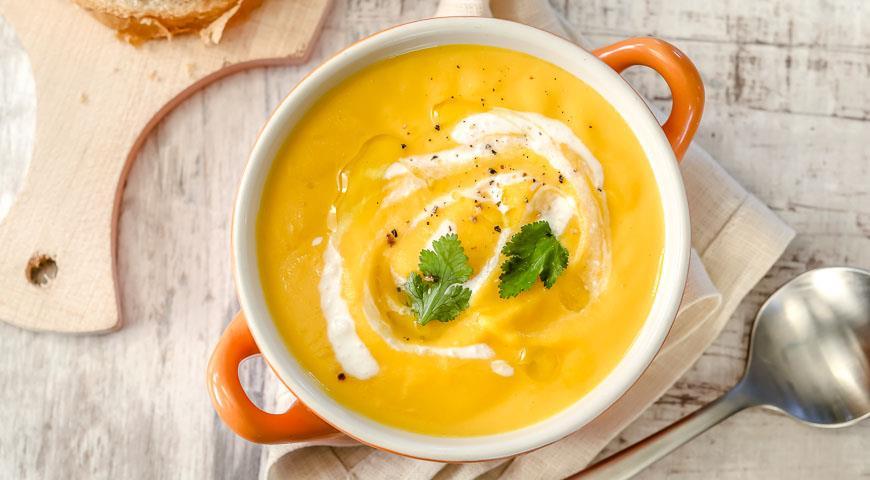 Рецепт Вегетарианский суп-пюре из тыквы